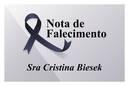 Nota Falecimento - Cristina Biesek - Galeria