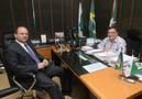 Caputo Neto recebe ministro e discute novos investimentos para o Paraná